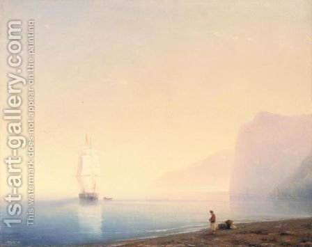 Sunrise Over Calm Waters by (after) Ivan Konstantinovich Aivazovsky - Reproduction Oil Painting