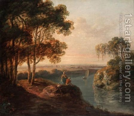 Resting By A River by (after) Richard Wilson - Reproduction Oil Painting
