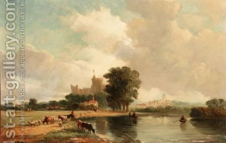 Windsor From The Meadows by Alfred Vickers - Reproduction Oil Painting