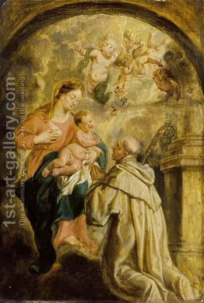 The Miracle Of Lactation by (after) Sir Peter Paul Rubens - Reproduction Oil Painting
