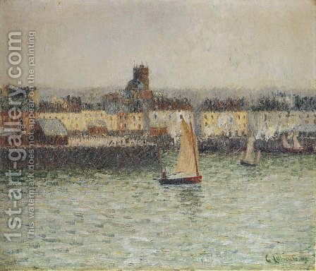 Le Port De Dieppe 3 by Gustave Loiseau - Reproduction Oil Painting