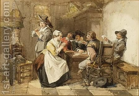 A Merry Company by Herman Frederik Carel ten Kate - Reproduction Oil Painting