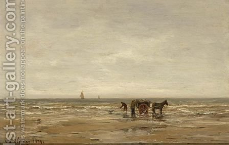 Shell Fishers On The Beach by Hendrik Willem Mesdag - Reproduction Oil Painting