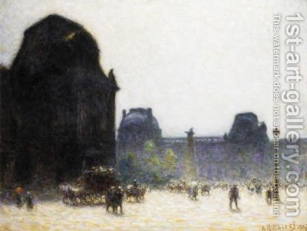 Le Louvre by Anatole Eugene Hillairet - Reproduction Oil Painting