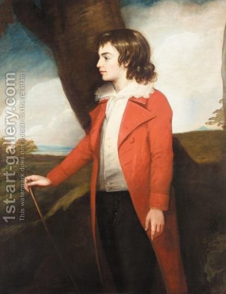 Portrait Of Robert John Charleton by (after) Romney, George - Reproduction Oil Painting