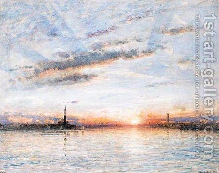 Venice, San Giorgio Maggiore And The Bacino by Albert Goodwin - Reproduction Oil Painting