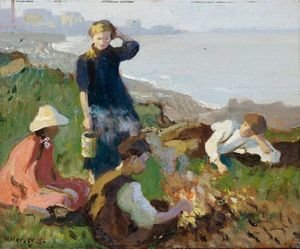 Reproduction oil paintings - Harvey Harold - The Bonfire