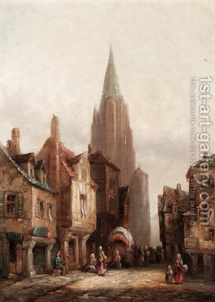 Continental Cathedral Cities by Henry Thomas Schafer - Reproduction Oil Painting