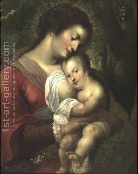 Madonna And Child by (after) Sir Peter Paul Rubens - Reproduction Oil Painting