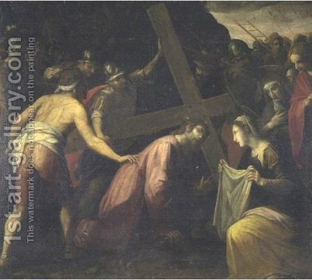 Road To Calvary by Italian School - Reproduction Oil Painting