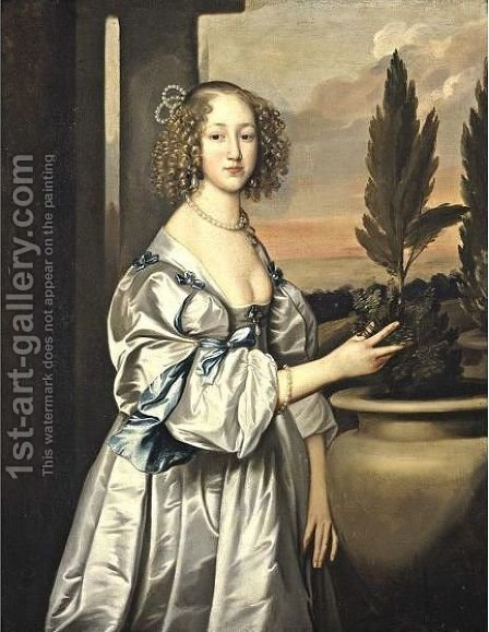 Portrait Of A Young Lady by (after) Dyck, Sir Anthony van - Reproduction Oil Painting