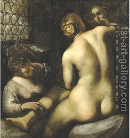 Toilet Of Venus by (after) Jacopo Tintoretto (Robusti) - Reproduction Oil Painting