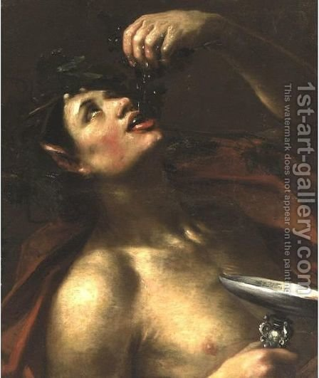 Bacchus by Italian School - Reproduction Oil Painting