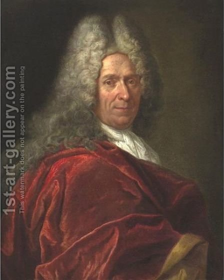 Portrait Of A Gentleman by (after) Largilliere, Nicholas de - Reproduction Oil Painting