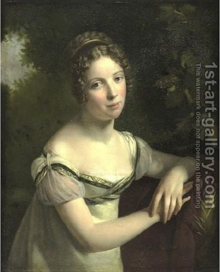 Portrait Of A Lady 3 by (after) Baron Francois Gerard - Reproduction Oil Painting