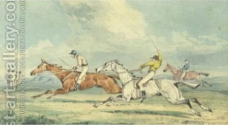 Racing by (after) Henry Samuel Jun Alken - Reproduction Oil Painting