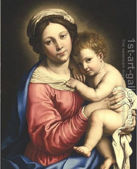 Madonna And Child by (after) Giovanni Battista Salvi, Il Sassoferato - Reproduction Oil Painting