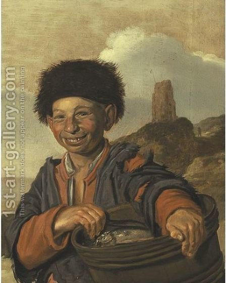 Young Fisherboy by (after) Frans Hals - Reproduction Oil Painting