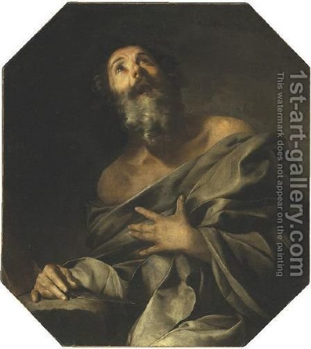 Saint Bartholomew by (after) Bernardo Cavallino - Reproduction Oil Painting