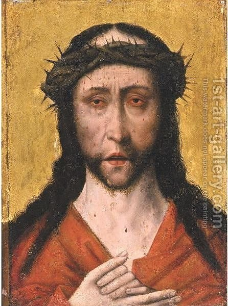Christ As Man Of Sorrows by (after) Dieric The Elder Bouts - Reproduction Oil Painting