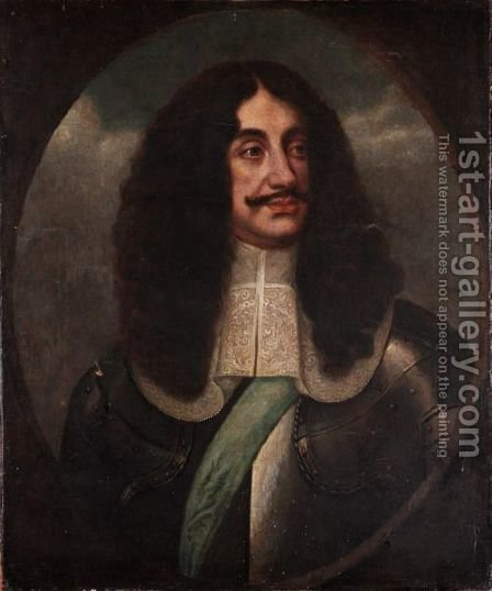 Portrait Of Charles II by (after) Pieter Nason - Reproduction Oil Painting