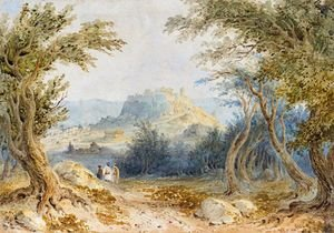 William Page reproductions - Figures In A Woodland Near Athens