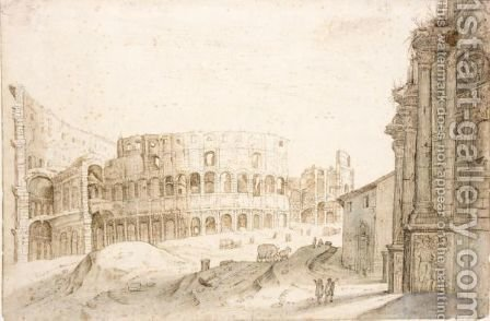 The Colosseum by (after) Willem Van, The Younger Nieulandt - Reproduction Oil Painting