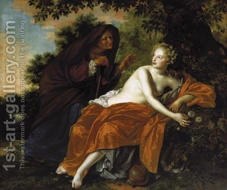 Vertumnus And Pomona by Adriaen Backer - Reproduction Oil Painting