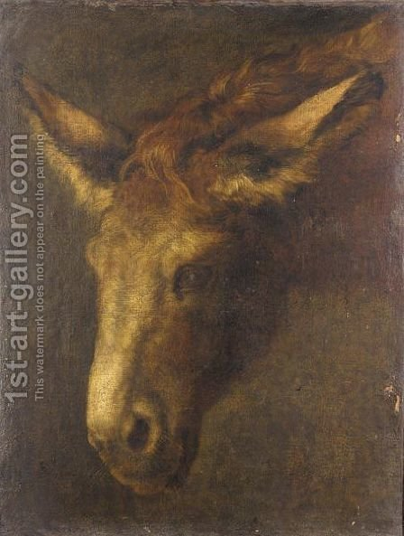 A Study Of The Head Of A Donkey by (after) Peeter Boel - Reproduction Oil Painting