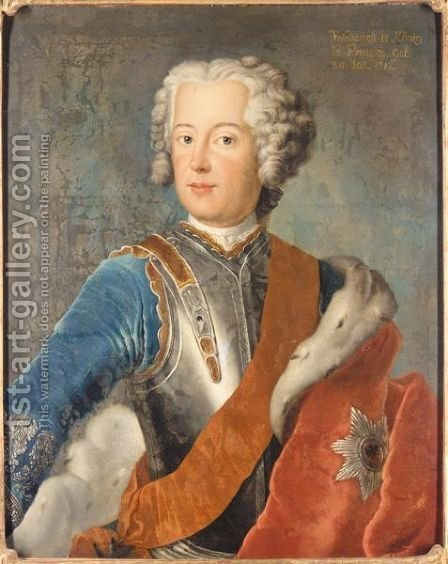 Portrait Of Frederick II, King Of Prussia (1712 - 1786) by (after) Pesne, Antoine - Reproduction Oil Painting