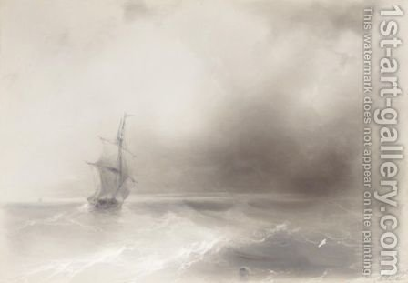 Ship On High Seas by Ivan Konstantinovich Aivazovsky - Reproduction Oil Painting
