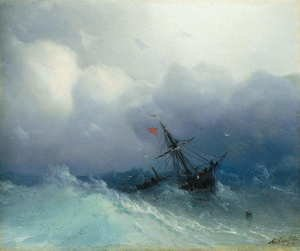 Reproduction oil paintings - Ivan Konstantinovich Aivazovsky - Shipwreck On Stormy Seas