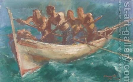 Fishermen Of Capri by Alexander Evgenievich Yakovlev - Reproduction Oil Painting