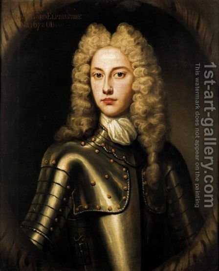 Portrait Of John, Son Of The 8th Lord Elphinstone (Born 1672) by (after) Alexis-Simon Belle - Reproduction Oil Painting