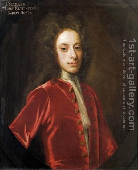 Portrait Of Charles, 9th Lord Elphinstone (1676-1738) by (after) William Aikman - Reproduction Oil Painting