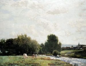 Reproduction oil paintings - Robert Noble - A View Of East Linton