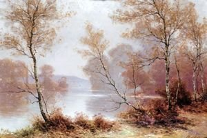 Reproduction oil paintings - Albert Gabriel Rigolot - Autumn On The Riverbank