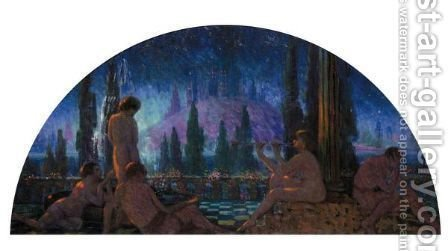Nocturne by Alphonse Osbert - Reproduction Oil Painting
