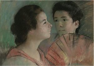 Reproduction oil paintings - Mary Cassatt - Two Sisters