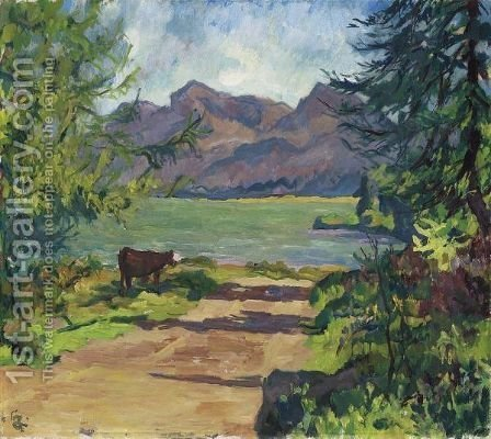 Lake Sils, 1931 by Giovanni Giacometti - Reproduction Oil Painting