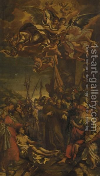 I Miracoli Di San Francesco by Italian School - Reproduction Oil Painting