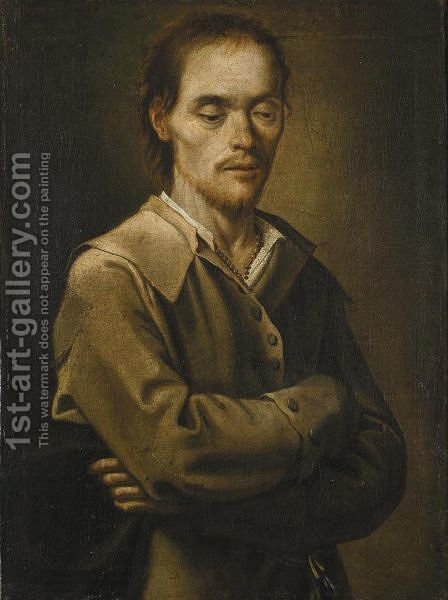 Ritratto Maschile by (after) Di Antonio Cifrondi - Reproduction Oil Painting