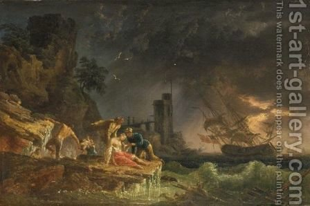 Marina by (after) Claude-Joseph Vernet - Reproduction Oil Painting