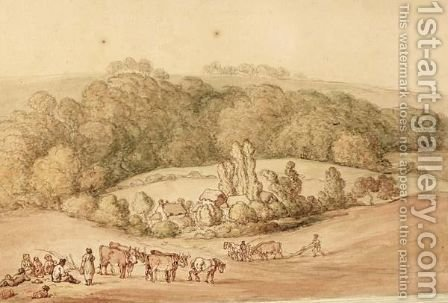 Ploughing The Fields by (after) Rowlandson, Thomas - Reproduction Oil Painting