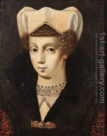 A Portrait Of A Lady, Bust Length by (after) Daniel Dumonstier - Reproduction Oil Painting