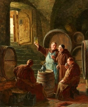 Eduard Von Grutzner reproductions - Tasting The Wine