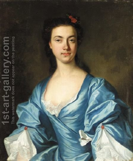 Portrait Of A Lady by Adrien Carpentiers - Reproduction Oil Painting