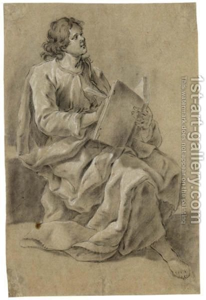 A Seated Evangelist, Writing by Govert Teunisz. Flinck - Reproduction Oil Painting