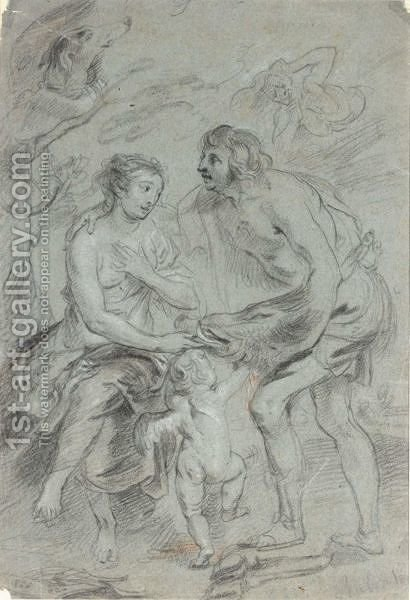 Meleager And Atalanta by (after) Sir Peter Paul Rubens - Reproduction Oil Painting