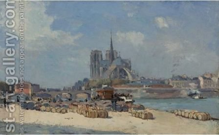 Notre Dame, Paris 2 by Albert Lebourg - Reproduction Oil Painting